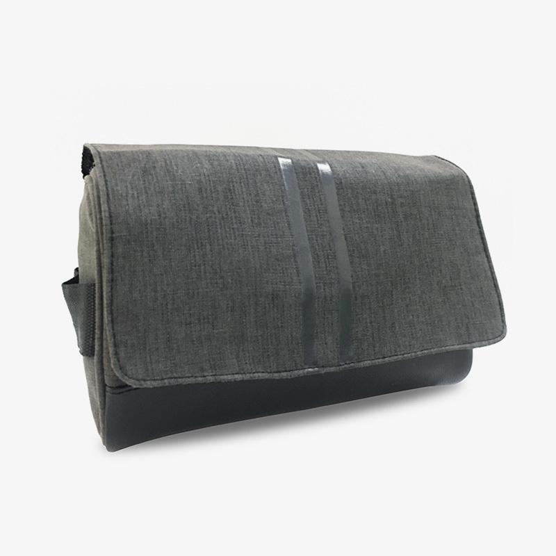 Custom high quality cotton linen men comestic bag