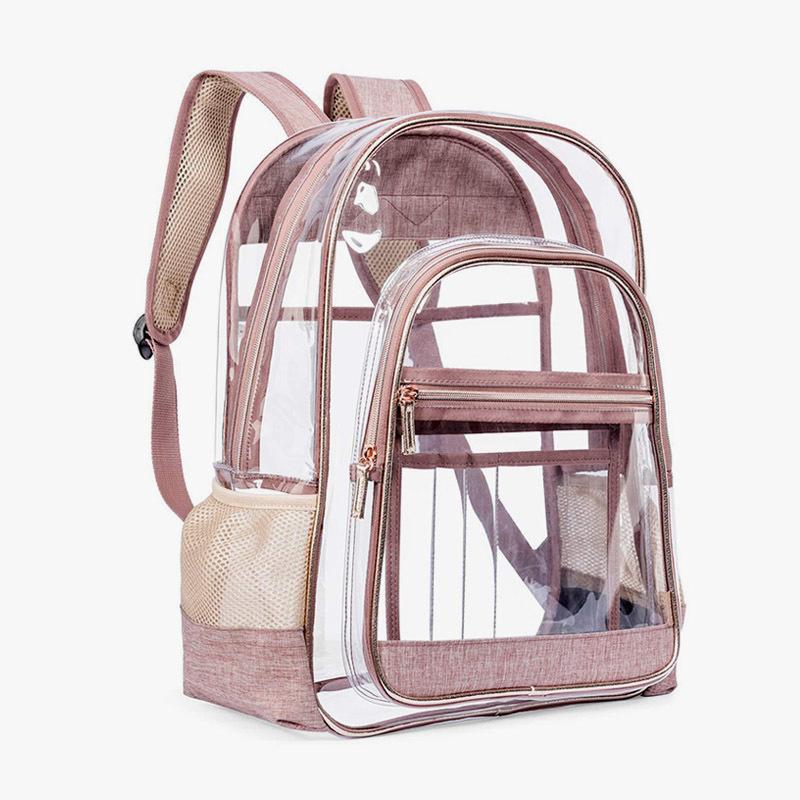 Fashionable joker transparent bag high volum backpack