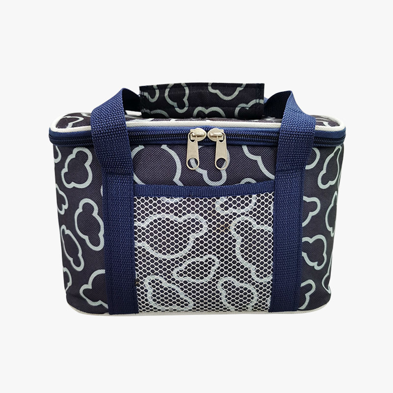 Outdoor travel picnic bag printed 600d polyester food insulation bag