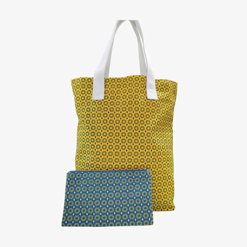 Canvas folded cotton shopping bag