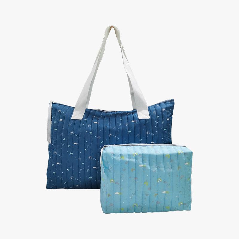 Canvas shopping bag; Multifunctional stylish mom bag