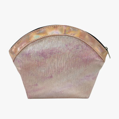 Shell handbag Ladies leather beauty case Portable cometics pouch