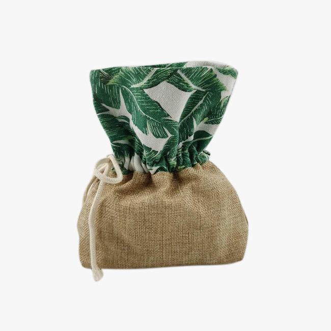 Drawstring linen bag Environmental jewellery pouch