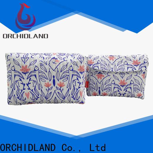 ORCHIDLAND custom handbag factory for cosmetics carrying