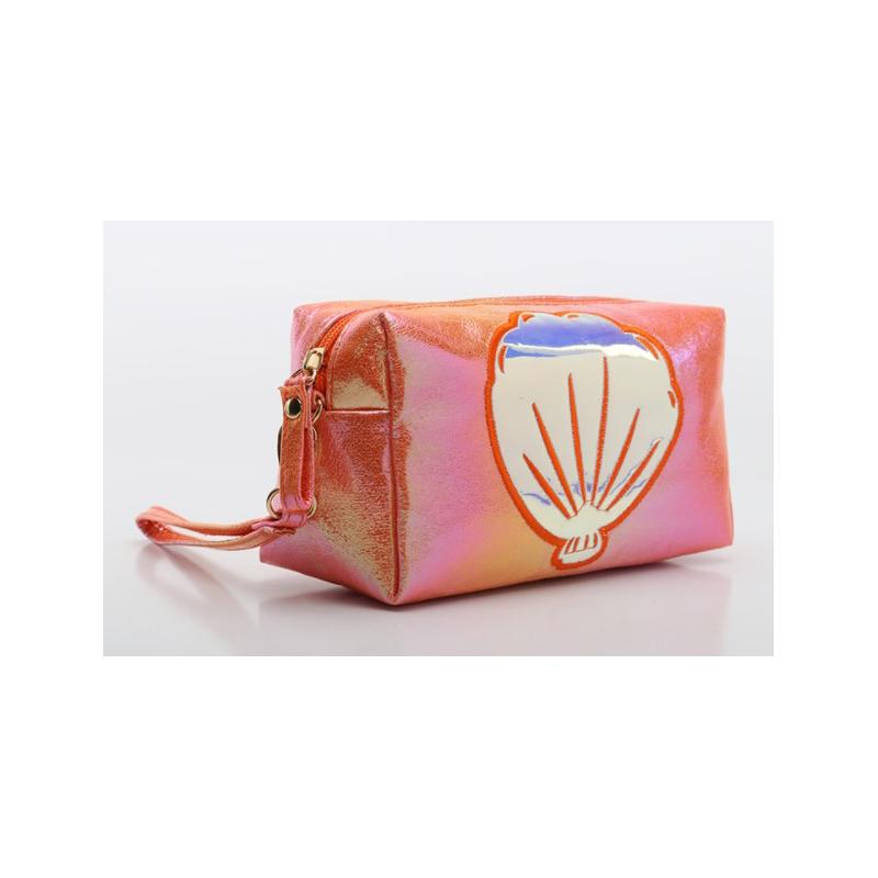 Crackle shell Prince bag magic color laser cosmetic bag cartoon handbag