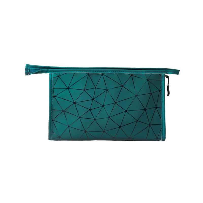 Ins cosmetic bag large capacity portable simple fashion storage bag travel portable small rhombic storage bag