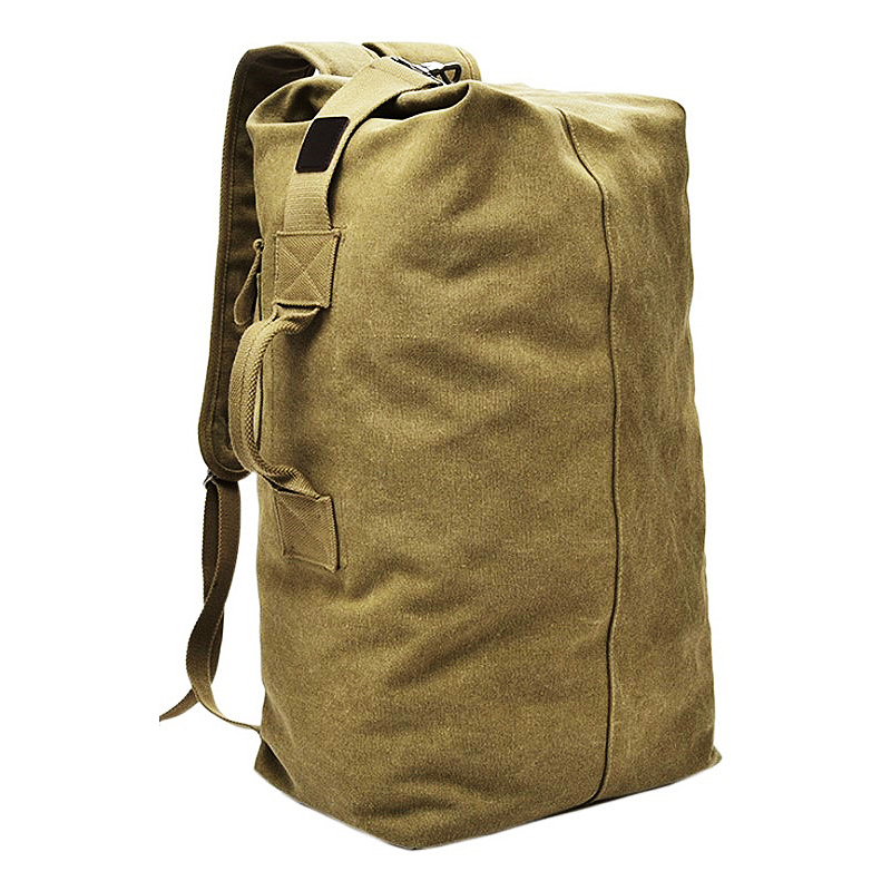 Travel outdoor canvas men's fashion backpack sports bag backpack large capacity travel bag