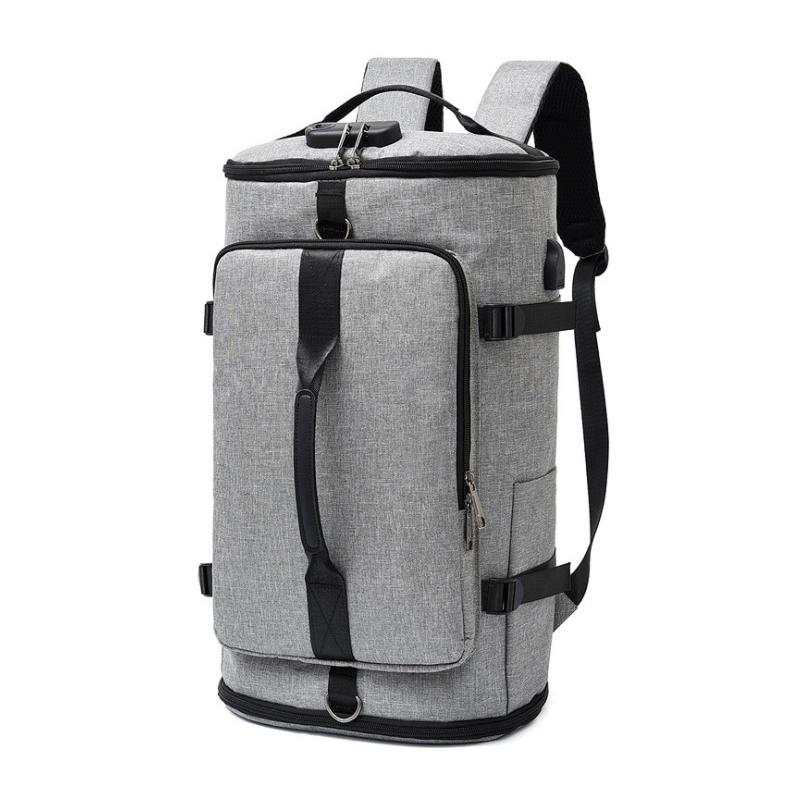Large capacity waterproof backpack women's Polyester double shoulder bag men's single shoulder Bucket Bag