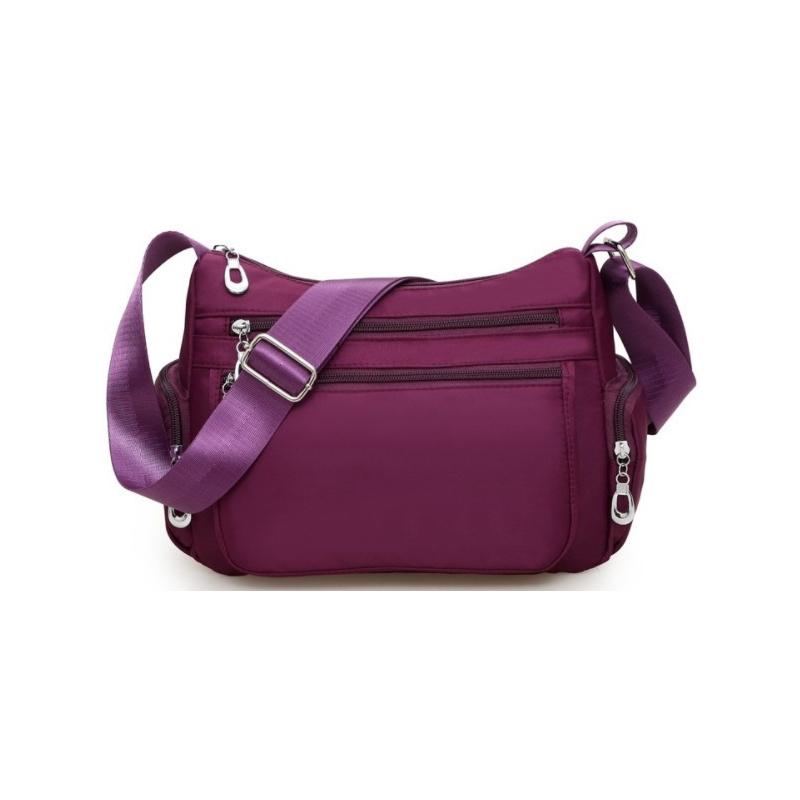 Fashionable nylon shoulder bags are elegant lady's messenger bags