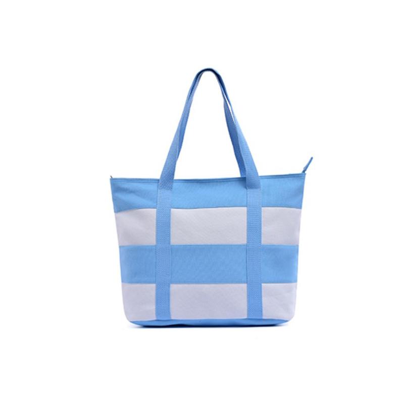 Fashion Versatile Stripe Boat Shoulder Bag
