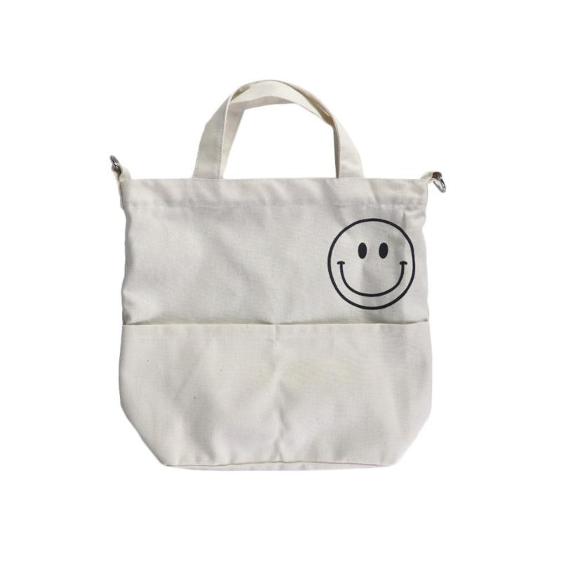 Creative Smiling Face Canvas Bag