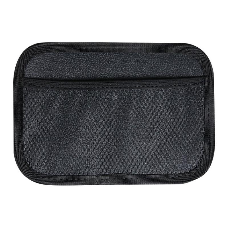 Adhesive car bag car seat back mobile phone storage box storage bag net pocket